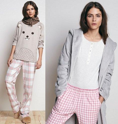pijamas de animales de Oysho invierno 2014