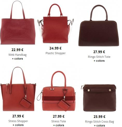 bolsos rojos de Parfois otoño invierno 2015