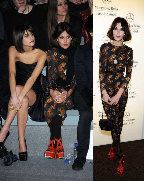 Alexa Chung en la New York Fashion Week