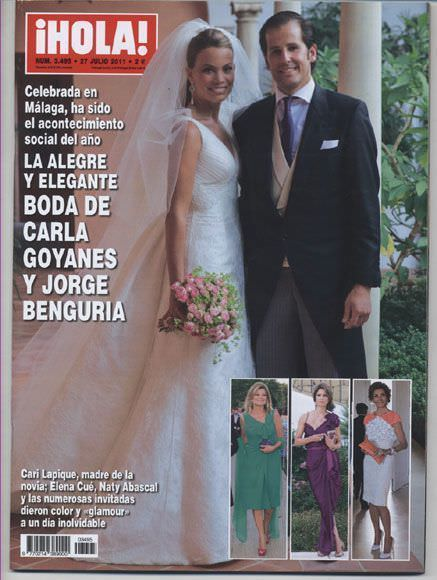 Foto boda de Carla Goyanes