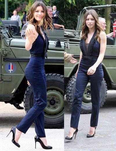 Jessica Biel con jumpsuit muy mono