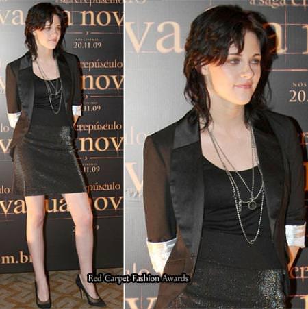 Kristen Stewart en la presentación de New Moon en Brasil