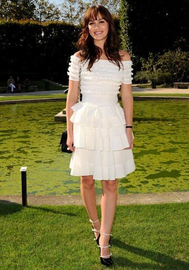 Leighton Meester con Christian Dior