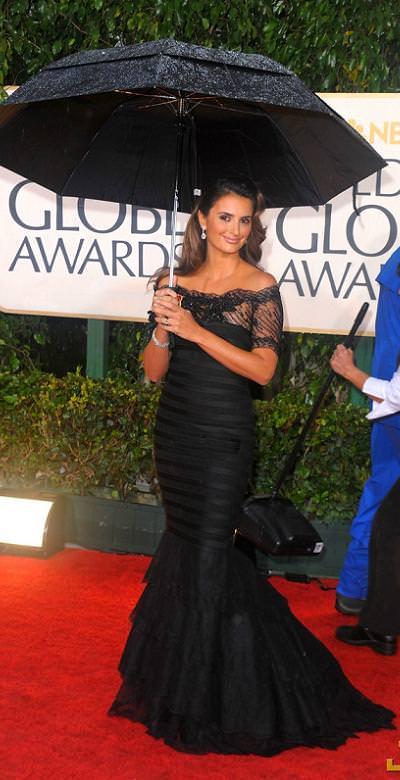 Penélope Cruz, en los Globos de Oro 2010