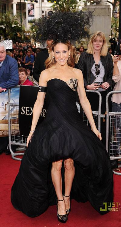 Sarah Jessica Parker en Londres con Sex and the City 2