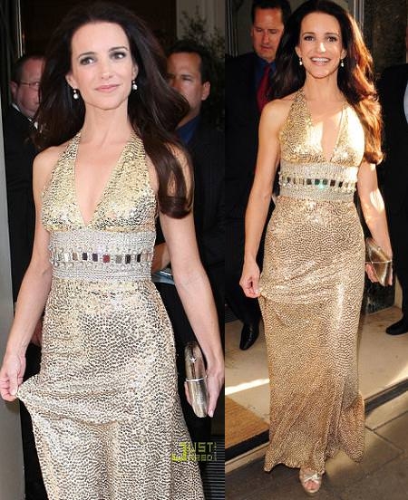 Kristin Davis en Londres con Sex and the City 2