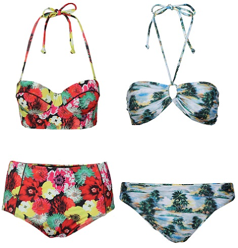 bikinis de estampado tropical de primark primavera verano 2014