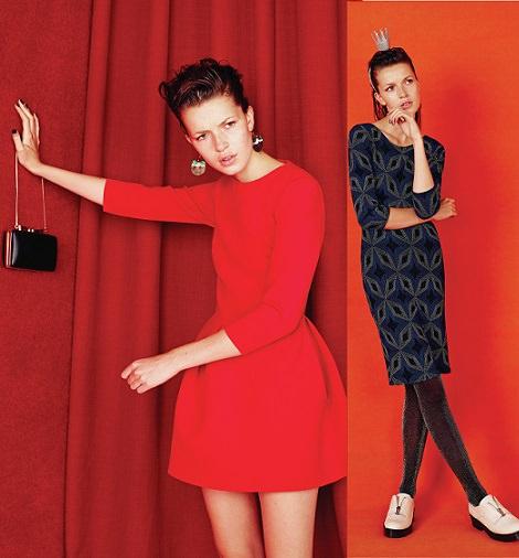 vestido rojo de primark invierno 2015 fiesta