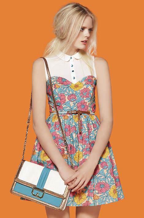 Primark catálogo primavera 2012, vestidos flores
