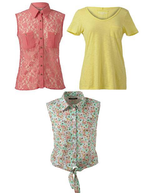Ropa de Primark primavera verano 2012: camisetas y blusas