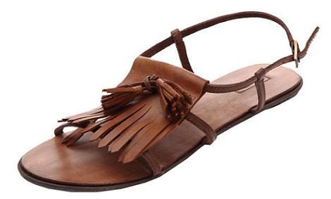 Sandalias con borlas
