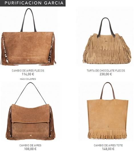 bolsos de flecos purificación garcía otoño invierno 2014 2015