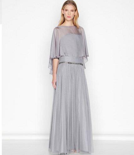 purificacion garcia vestido gris