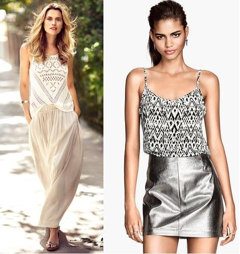 faldas de rebajas de H&M verano 2014