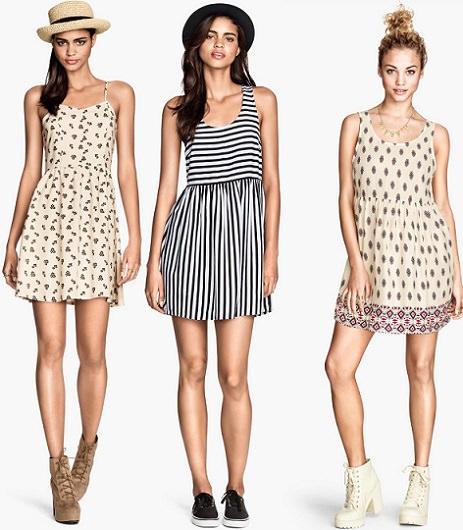 vestidos de rebajas de H&M verano 2014