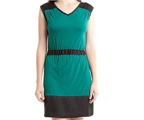 vestido verde de springfield