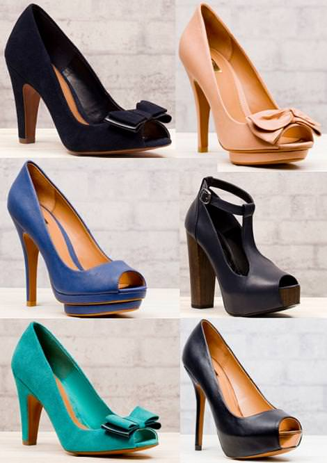 Sandalias y zapatos Stradivarius primavera 2012 zapatos peep toe