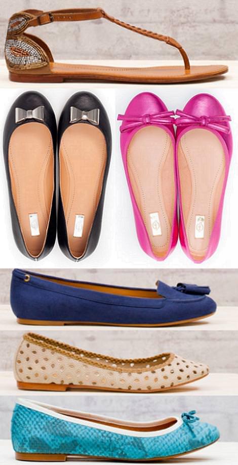 Sandalias y zapatos Stradivarius primavera 2012 zapatos planos y bailarinas