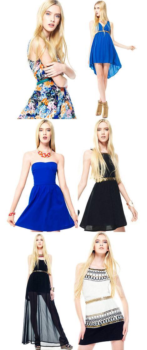 Stradivarius ropa primavera verano 2012: vestidos
