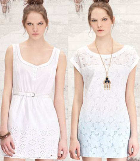 Vestidos de fiesta de Stradivarius primavera verano 2012 : blanco