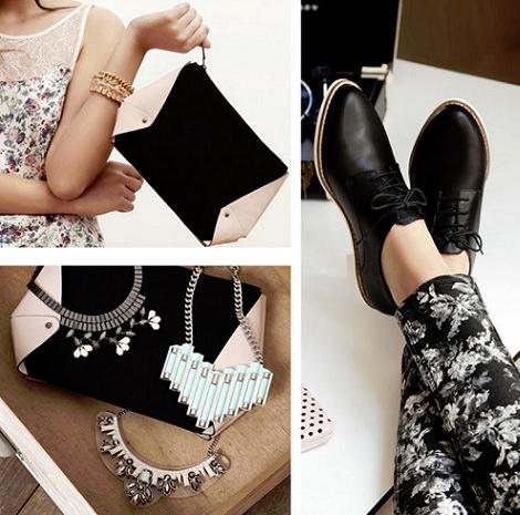 zapatos bolsos y collares de Stradivarius primavera verano 2014