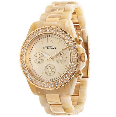 Reloj dorado de Uterque