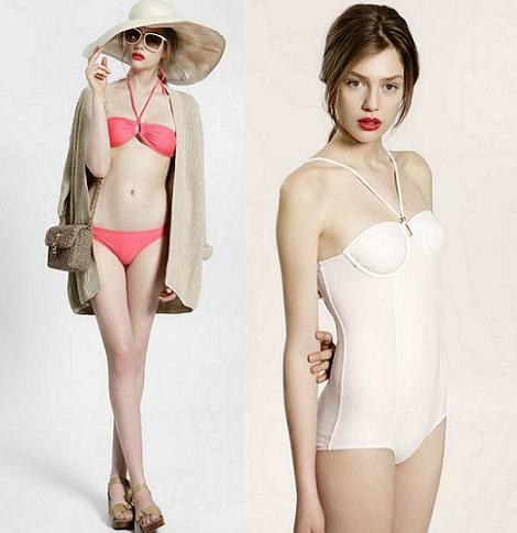Bañadores y bikinis de Uterque 2011