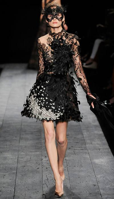 moda otoño invierno 2009 2010, Valentino, alta costura