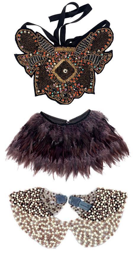 Nuevos collares cuello y baberos de Zara otoño invierno 2010 2011