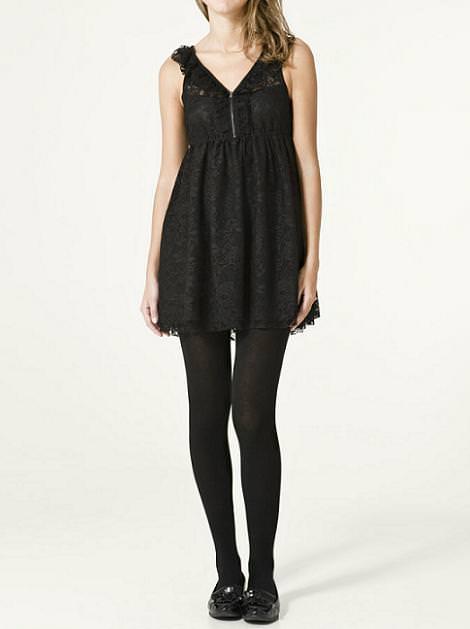 Vestidos negros y cortos de FIESTA de TRF