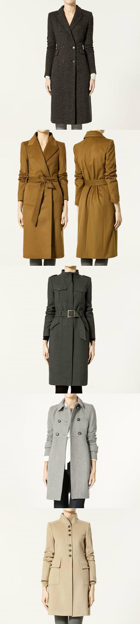 Nuevos abrigos de Zara (otoño invierno 2010 2011)