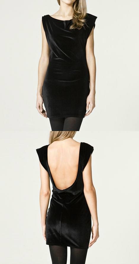 Vestido de terciopelo de Zara (otoño invierno 2010 2011)