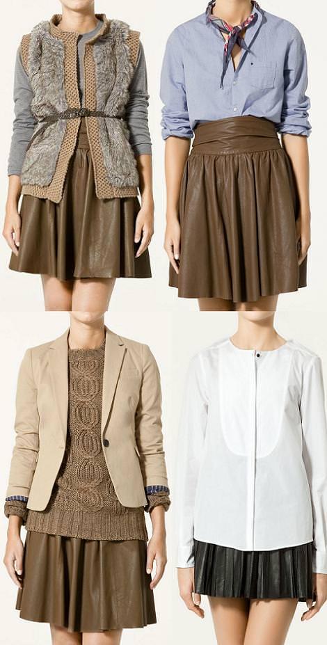 Faldas de cuero (otoño invierno 2010 2011)