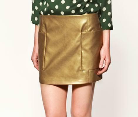 Ropa dorada de Zara
