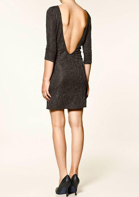 Vestido brocado de Zara Trafaluc