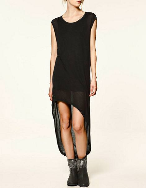 Vestido asimétrico de Zara Trafaluc
