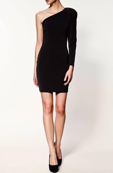 Vestido de fiesta asimétrico de Zara