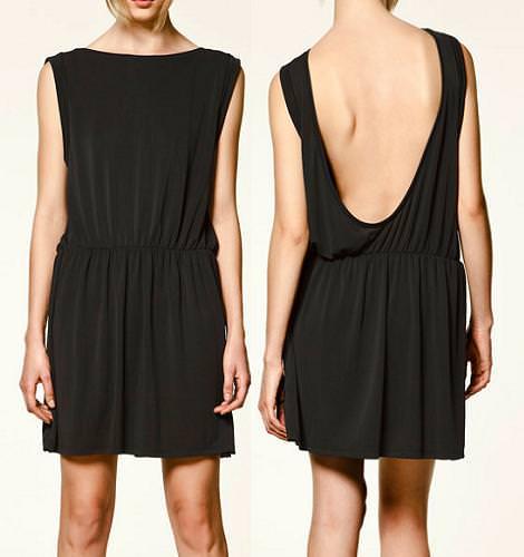 Vestido con escote en la espalda de Zara Trafaluc