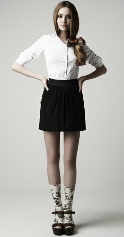 Tendencias primavera 2010: calcetines! Este look es de Zara