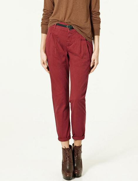 Pantalones con pinzas
