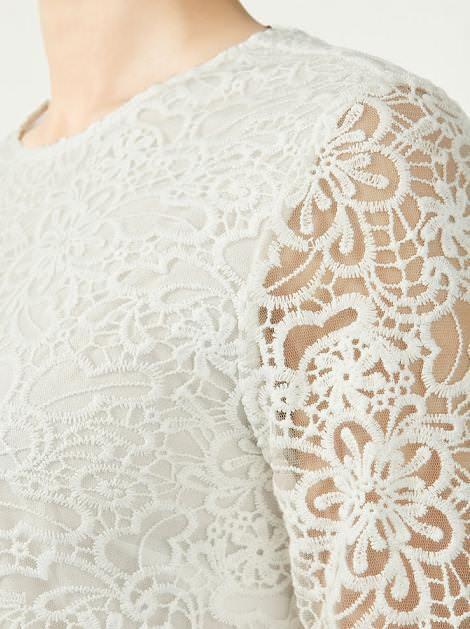 Vestido bordado de Zara