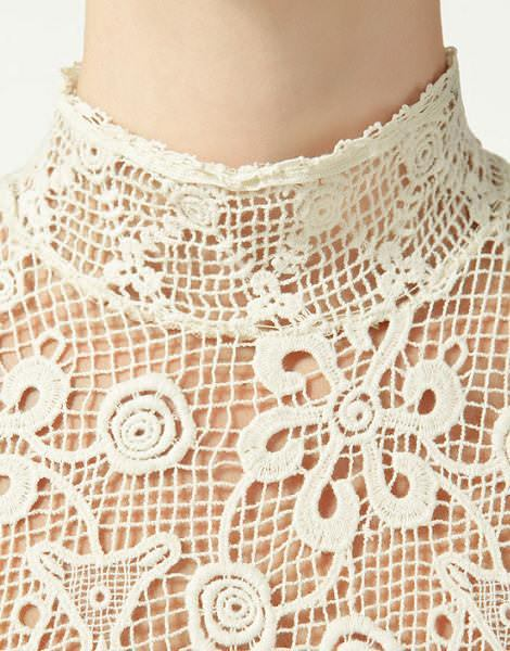 Vestido crochet de Zara