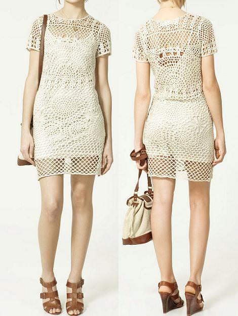 Vestidos de Zara de crochet