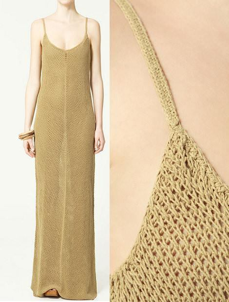 Vestidos largos de Zara primavera 2011