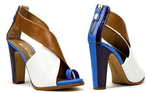 Sandalias color block de Zara
