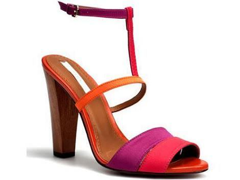 Sandalias color block de Zara