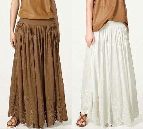 Faldas largas de Zara