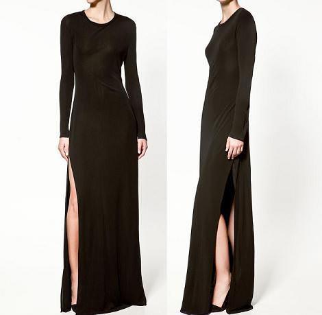 Nuevo vestido con abertura de Zara