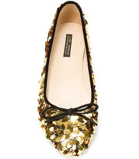 Nueva colección de Zara: Sandalias de lentejuelas