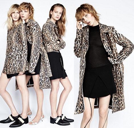 ropa de leopardo de Zara otoño invierno 2014 2015